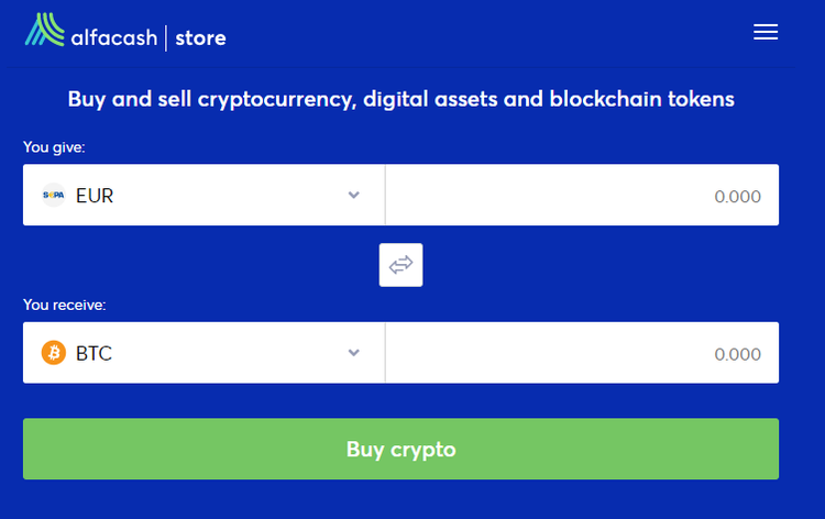 How to Buy Cryptocurrency with Fiat Using Alfacash Store?