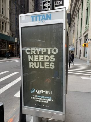 Gemini Goes All-in in NYC with 'Crypto Needs Rules' Ads | Finance